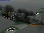 Un desafortunado piloto de la LW alcanzado por los 23mm de un IL2